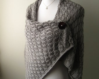 Hand Knit Shawl / Wrap MADE TO ORDER