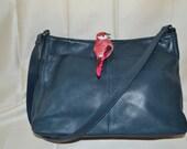 Leather Purse Blue paris chic boho