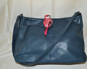 Leather Purse Blue paris chic boho