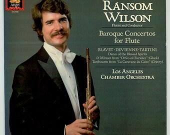 Ransom Wilson, Flutist & Conductor, Baroque Concertos for Flute, Blavet Devienne Tartini Gluck, Angel Digital LP Vintage Vinyl Record Album