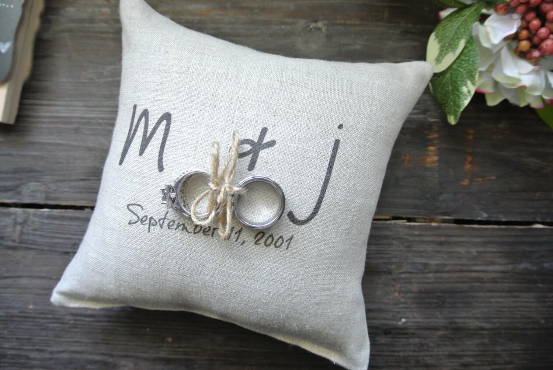 ring pillow personalized ring bearer pillow custom ring
