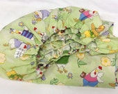 Crib Fitted Sheet Fun Chickens Barnyard Printed Cotton Woven For Baby's Nursery