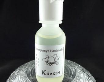 KRAKEN Beard Oil Sample Size, Ocean Aqua Cologne Oil, Beard Conditioner, Natural Beard Oil for Men, Apricot Kernel Oil, Aqua Di Geo