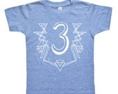 I Am This Many Kids Birthday Shirt - Geometric Shapes - Boys or Girls Birthday Shirt - Baby & Toddler - Kids Clothing - I'm This Many