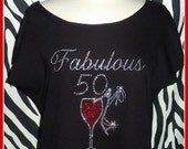 Fabulous 50th Birthday shirt or 21 30 40 60 tshirts  Adult birthday shirts Girls weekend shirts Girls night out Girls Trip tank