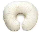 Nursing pillow cover BLACK DOTS - cream nursing pillow - polka dot feeding pillow cover - breastfeeding pillow cover