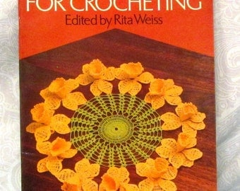 Floral Doilies For Crocheting Edited by Rita Weiss Crochet Stitches Instruction How To Craft Book