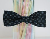 A Starry Polka Dotted Night Self Tie Bow Tie