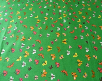 Butterflies in Green, Tiger Lily Collection by Heather Ross for Windham Fabrics, 1/2 yd