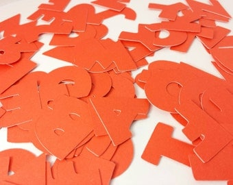 ORANGE Disney Alphabet: 1 inch  110 piece Disney Scrapbooking Font Set, Mickey Custom Confetti Pieces, Scrapbooking, Birthday, Decorations