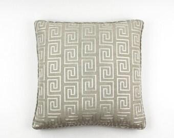 Robert Allen Crazy Maze in Linen Pillows with Self Welting (both sides)