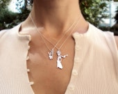 SALE! %20 OFF - Le Petit Prince - Little Prince Silver Necklace - 925 silver Necklace - Free Shipping Worldwide