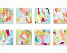 Modern Art Blocks, Original Acrylic Paintings, Vibrant Paintings on Canvas Blocks