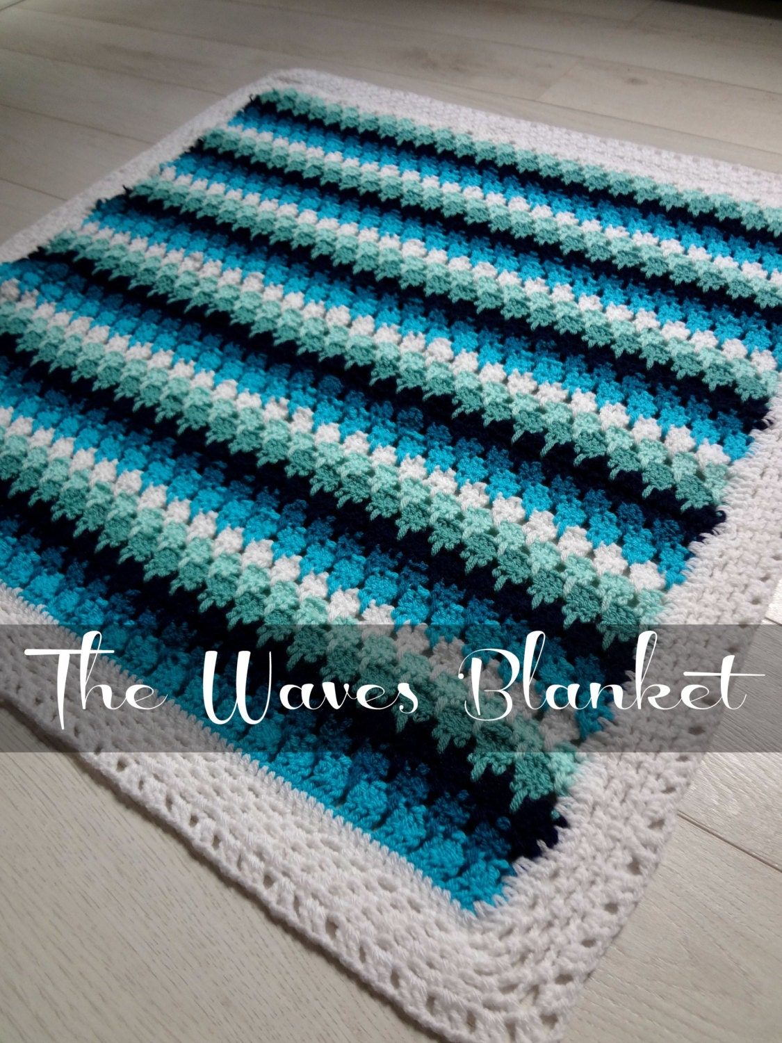Larksfoot Crochet Baby Blanket Pattern : CROCHET PATTERN Baby Blanket Waves and Pebbles Crochet