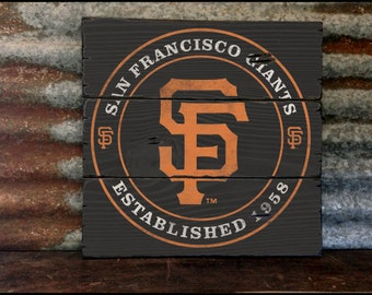 San Francisco Giants, Handcrafted Rustic Wood Sign, Mountain Decor for Home and Cabin, 2047