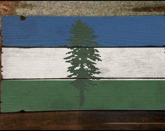 Cascadia Flag, Handcrafted Rustic Wood Sign, Mountain Decor for Home and Cabin, 3149