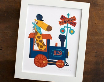 Train Print for Child's Room