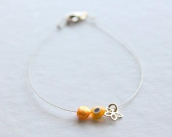 tiny flower bracelet