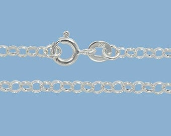 Sterling Silver 1.4 mm Rolo Chain