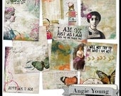 Journal It Papers Set #1 - Digital Art Supplies By Angie Young