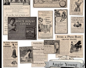 Vintage Clippings #6 - Digital Art Supplies By Angie Young