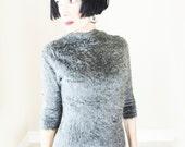 Rare Vintage Rockabilly Shaggy Sweater - 1950s Beatnik Top