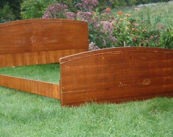 Full Size Headboard and Foot-board 1950s Mid-century Free Shipping