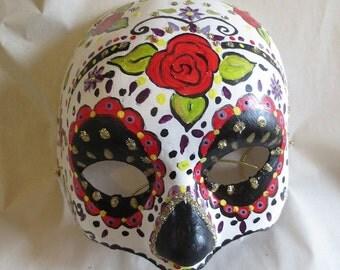 Día de los Muertos / Day of the Dead 3/4 Mask