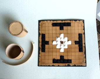 middle ages game, Leather board game – hnefatafl