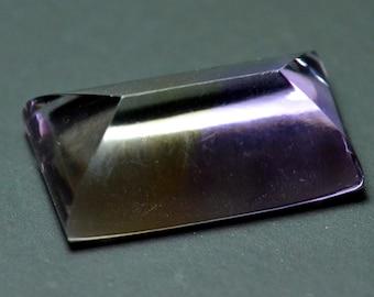 31ct 25mm Ametrine Sugar Loaf  oblong gemstone 25mm by 14.75 by 10mm