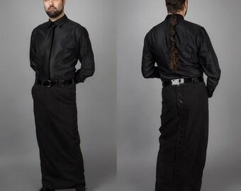 CUSTOM Skirt or CUSTOM Shirt for Men, buttons in back
