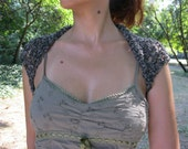 COTTON SHRUG  ....Elegant Hand Knitted Summer Shrug in  Gray Color