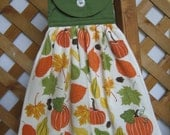 Autumn Themed Kitchen Tea Towel LAST ONES FFFOFG Fall Themed Hanging Kitchen Dish Towel SnowNoseCrafts