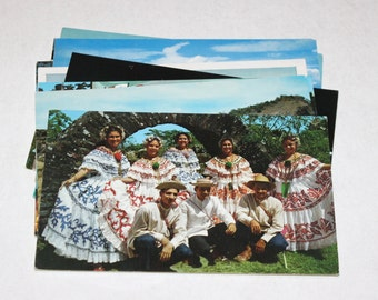 12 Vintage Panama Chrome Postcards Blank - Wedding Guestbook
