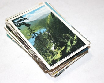 SALE - 103 Vintage Canada Postcards - DAMAGED