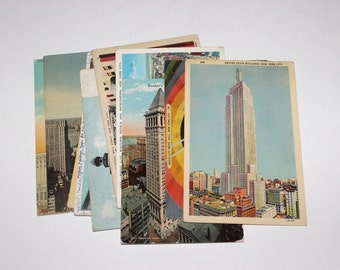 10 Vintage New York City Postcards Used