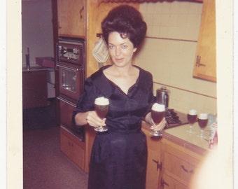 Vintage 1960's Big hair woman double fisting beer DIGITAL DOWNLOAD