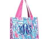 12 Personalized Lilly Pulitzer Market Bags