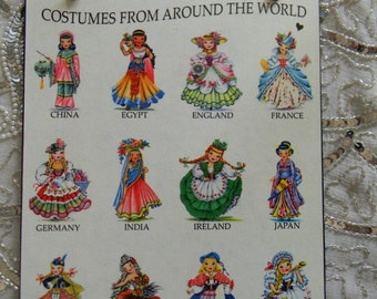 Costumes From Around The World Decorative Wall Plaque