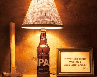 AleSmith Brewery IPA 22oz. Beer Bottle Lamp Light Free U.S. Shipping
