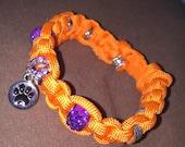 Clemson paracord bracelet