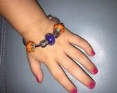 Clemson tiger toddler bracelet