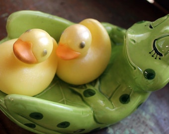2 RUBBER DUCKY SOAPS, Bird Soap, Yellow Rubber Ducky Soaps, Set of 2, Baby Shower Soap Favors, Ducky Soap Favors