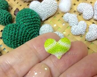 X-MINI Littlest Crochet amigurumi hearts stuffed decoration Miniature Hearts Super Mini