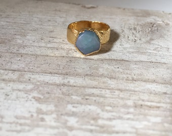 SALE: Watermelon Jade Clay Ring