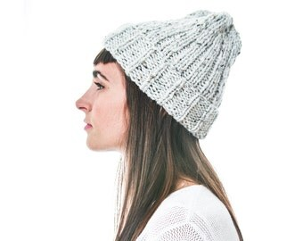 Alpaca Merino Wool Knit Hat in Marble, soft and lightweight fall accessory