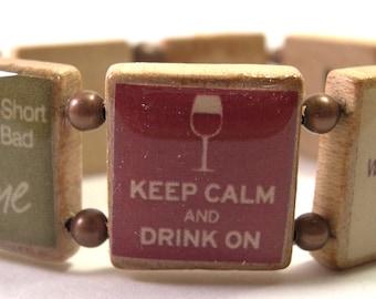Wine Lovers Scrabble Bracelet