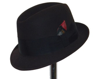 Vintage 1960s Knox Trilby Fedora Hat Size S