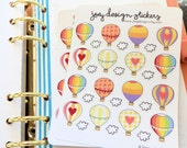 Cute stickers - HOT-AIR BALLOONS, perfect for your planner