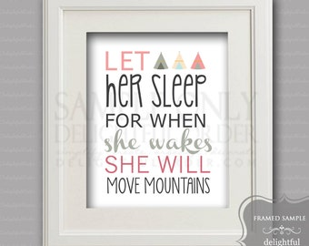 "8x10 - ""Let Her Sleep"" Wall Art - (JPEG Digital File) Instant Download - You Print- You Frame"